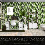 Tropical Leaves 2 Wallpaper by Caroll91