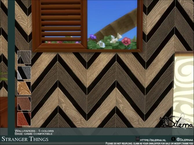Stranger Things panels by Silerna at TSR image 17 670x503 Sims 4 Updates