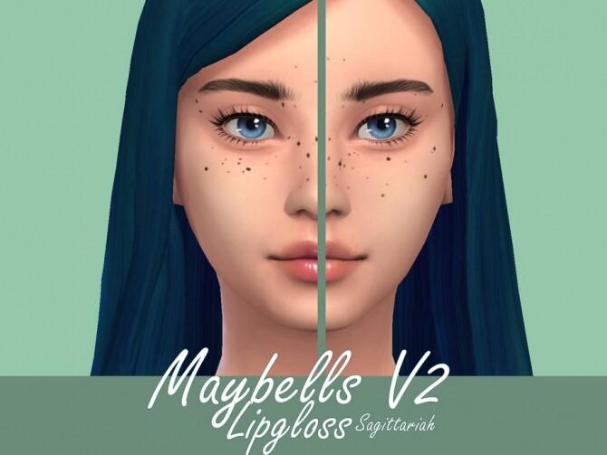 Sims 4 Maybells Lipgloss V2 by Sagittariah at TSR