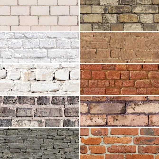 Sims 4 Brick wall pack at Simspiration Builds