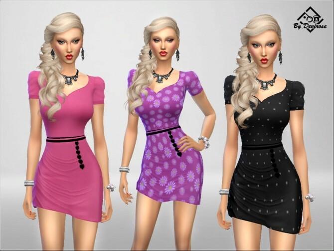 Sims 4 Summer Chic Dress by Devirose at TSR