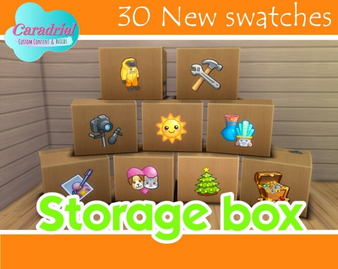 Storage Box 30 New Swatches by Caradriel at Mod The Sims image 1726 670x534 Sims 4 Updates