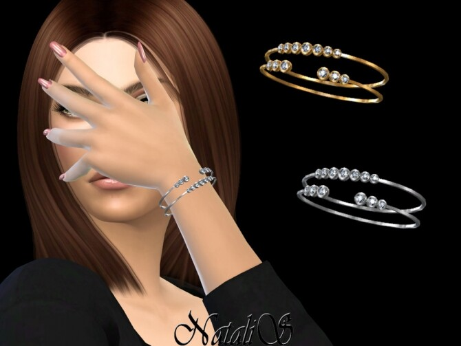 Sims 4 Graduated crystals bracelets by NataliS at TSR