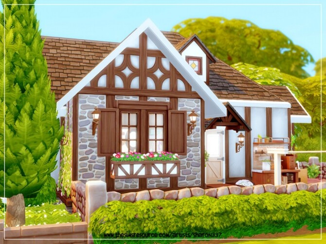 Sims 4 Tiny Tudor Cottage Nocc by sharon337 at TSR