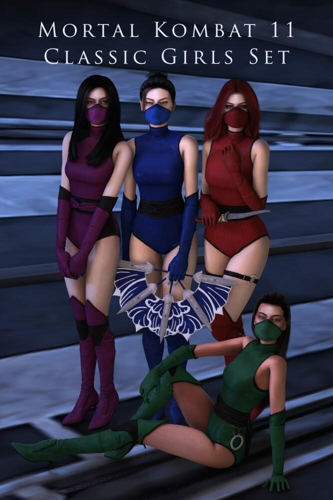 Mortal Kombat 11 Classic Girls Set at Astya96 image 1761 667x1000 Sims 4 Updates