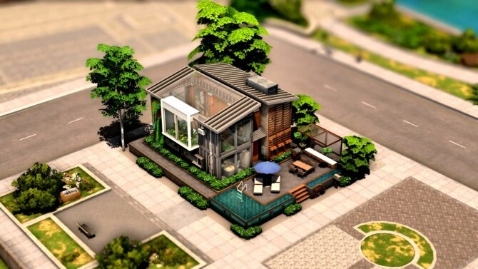 Sims 4 Eco Urban City House at DH4S