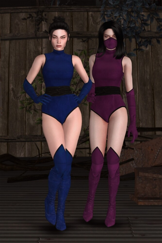 Sims 4 Mortal Kombat 11 Classic Girls Set at Astya96