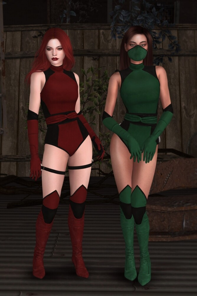 Mortal Kombat 11 Classic Girls Set at Astya96 image 1781 667x1000 Sims 4 Updates