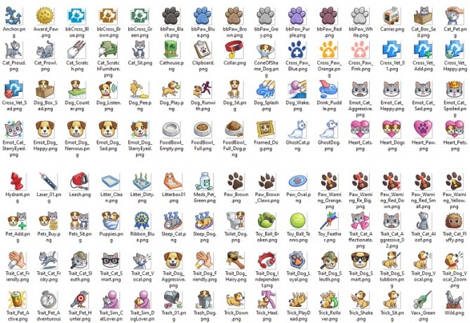 TS3/TS4 PETS Icons by Kaybarr at Mod The Sims image 1805 670x461 Sims 4 Updates