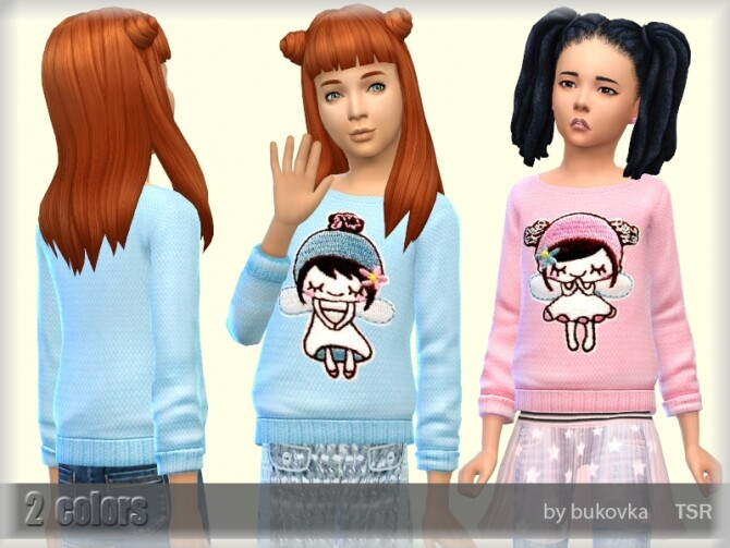 Sims 4 Fairy Shirt by bukovka at TSR