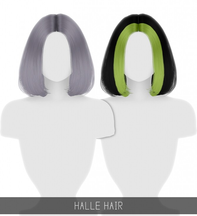Sims 4 HALLE HAIR + TODDLER & CHILD + TWO TONE at Simpliciaty