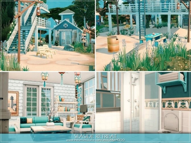 Sims 4 Seaside Retreat by MychQQQ at TSR