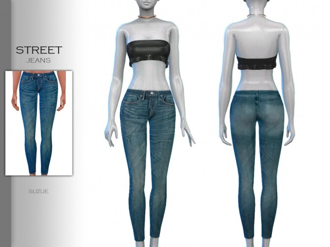 Sims 4 Street Jeans by Suzue at TSR