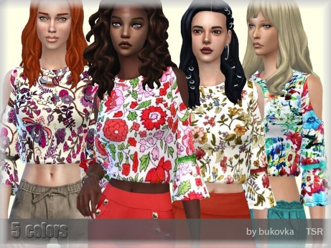 Sims 4 Shirt Female by bukovka at TSR