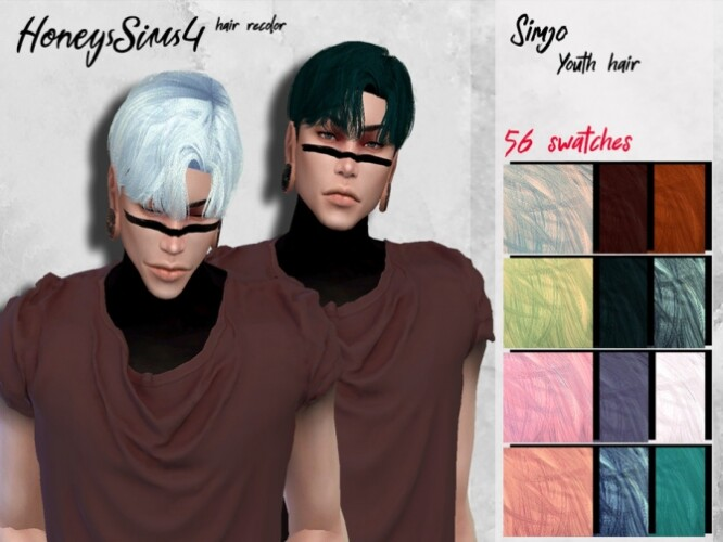 Simjo Youth male hair recolor by HoneysSims4