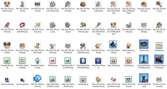 Sims 4 TS3/TS4 PETS Icons by Kaybarr at Mod The Sims