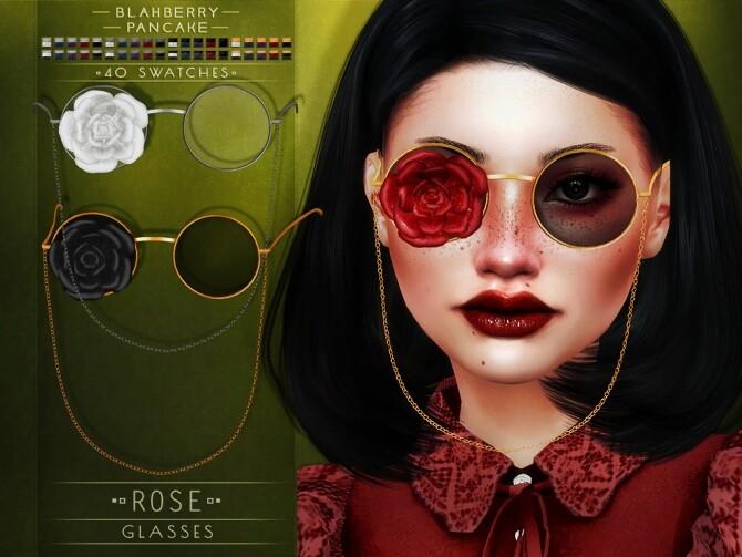 Sims 4 Rose Glasses at Blahberry Pancake