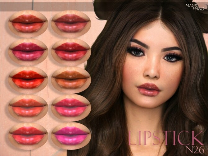Lipstick N26 by MagicHand at TSR image 1860 670x503 Sims 4 Updates