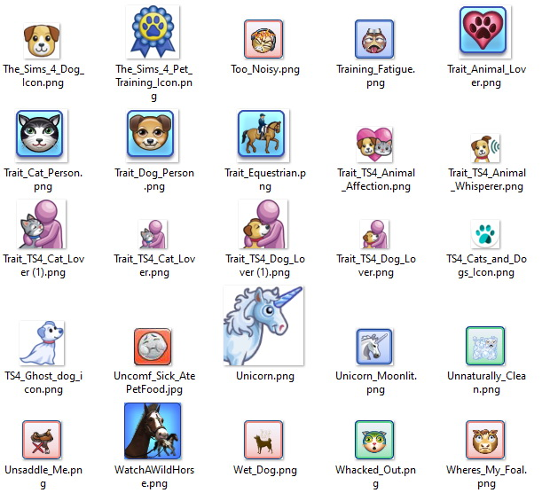 TS3/TS4 PETS Icons by Kaybarr at Mod The Sims image 1865 Sims 4 Updates