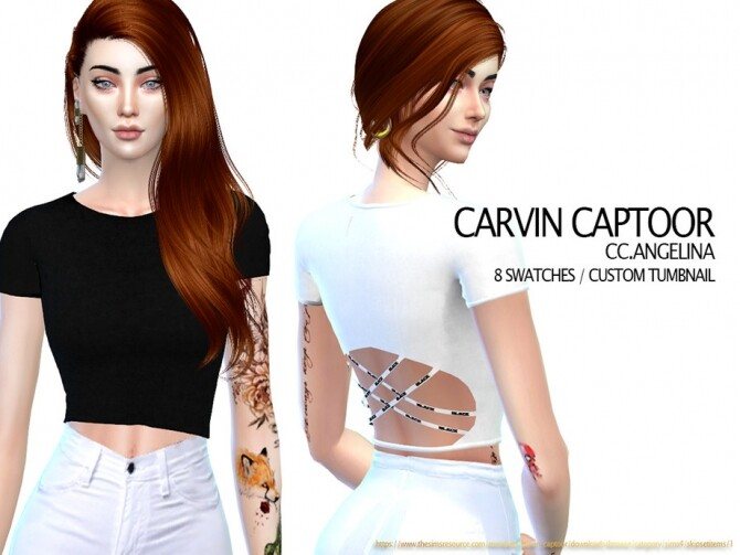 Sims 4 Angelina top by carvin captoor at TSR