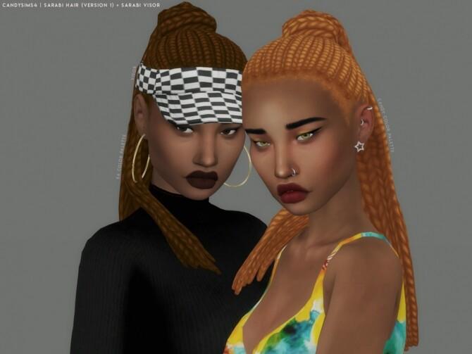 SARABI HAIR + VISOR at Candy Sims 4 image 1871 670x503 Sims 4 Updates