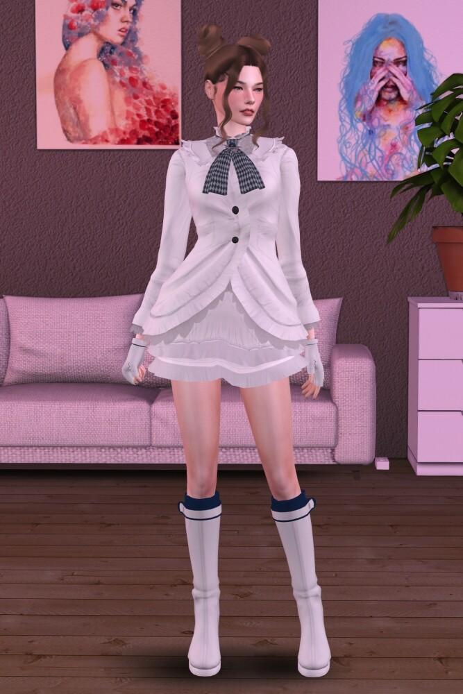Sims 4 Tekken 7 Emilie De Rochefort Set at Astya96