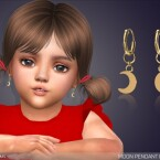 Moon Pendant Earrings For Toddlers by feyona