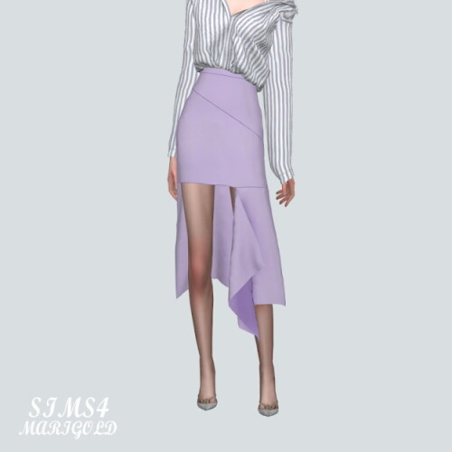 Cutting Midi Skirt