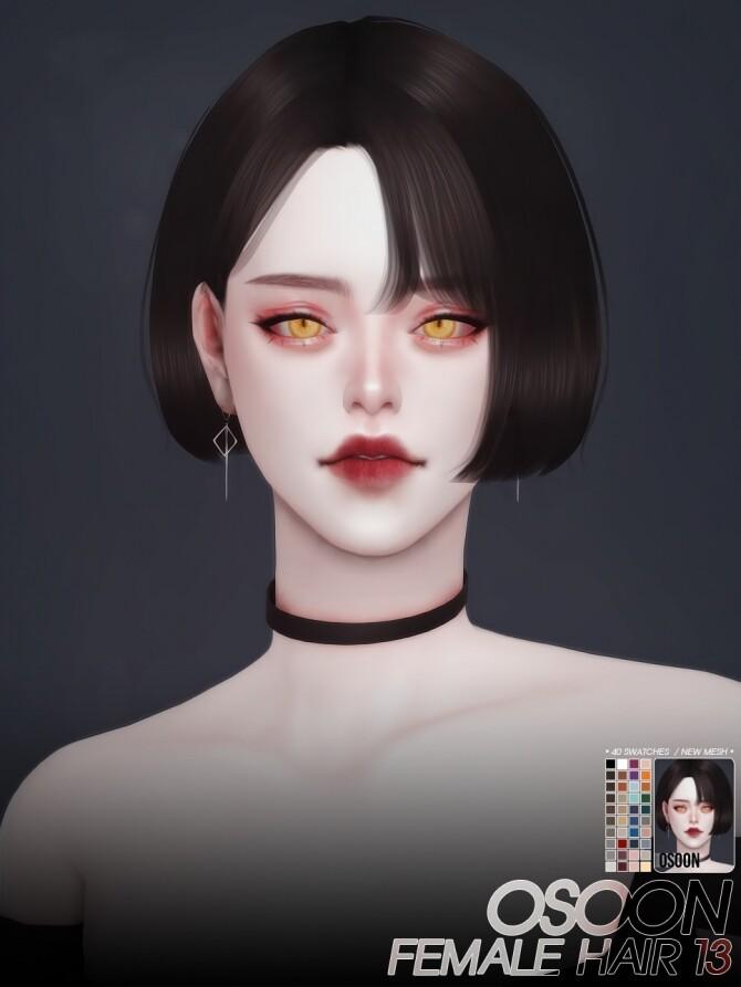 Sims 4 Female Hair 13 at Osoon