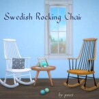 Swedish Rocking Chair by Pocci
