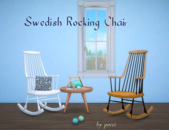 Swedish Rocking Chair by Pocci