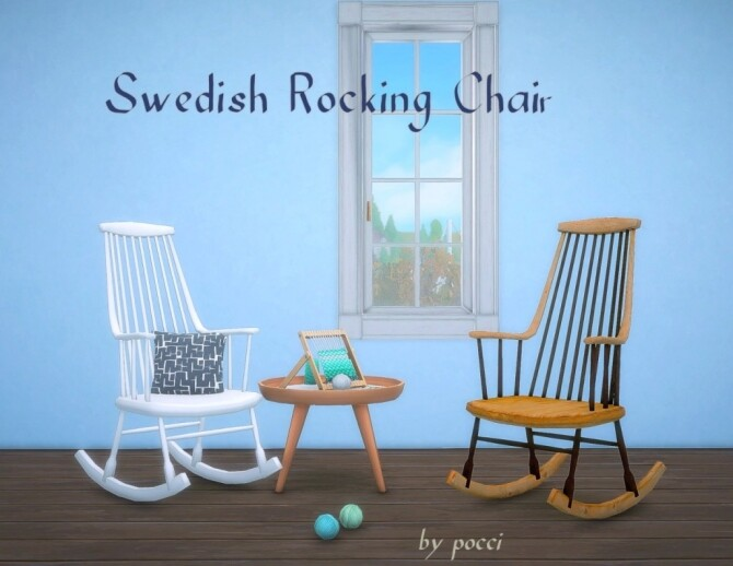 Sims 4 Swedish Rocking Chair by Pocci at Garden Breeze Sims 4