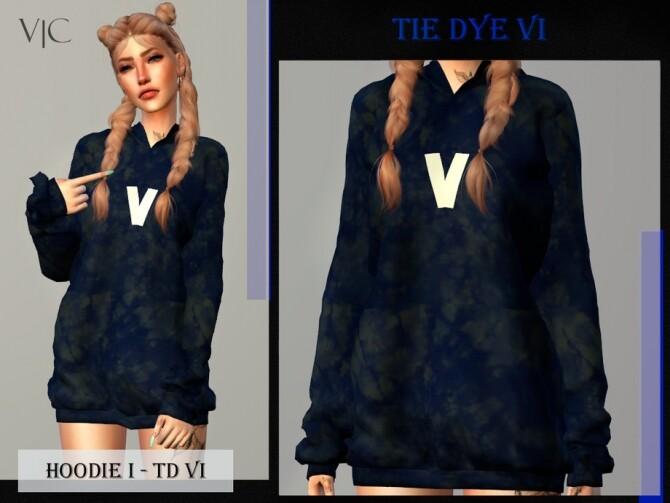 Sims 4 HOODIE I TIE DYE VI by Viy Sims at TSR