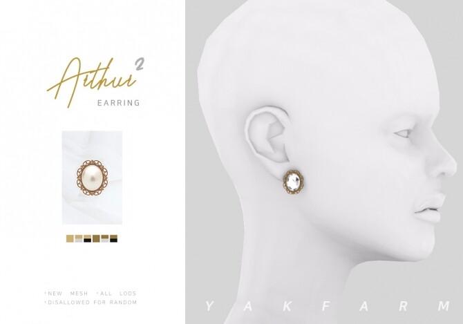 Arthur Set: earrings & choker at Yakfarm image 19212 670x469 Sims 4 Updates