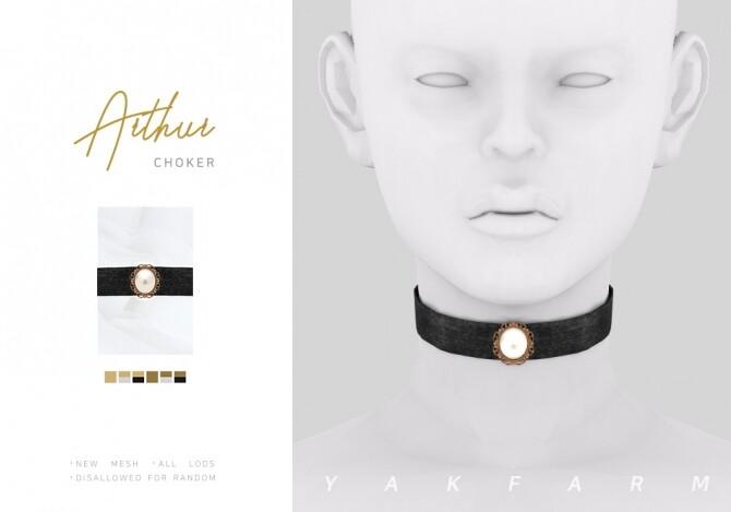 Arthur Set: earrings & choker at Yakfarm image 19312 670x469 Sims 4 Updates