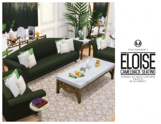Eloise Camelback 4 New Seatings at Simsational Designs image 1932 670x517 Sims 4 Updates