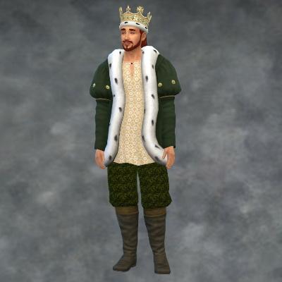 Sims 4 TSM King Fur Coat at Medieval Sim Tailor