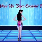 When We Disco Four Strap Cocktail Dress