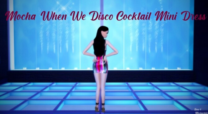 When We Disco Four Strap Cocktail Dress at Mochachiii image 1954 670x367 Sims 4 Updates