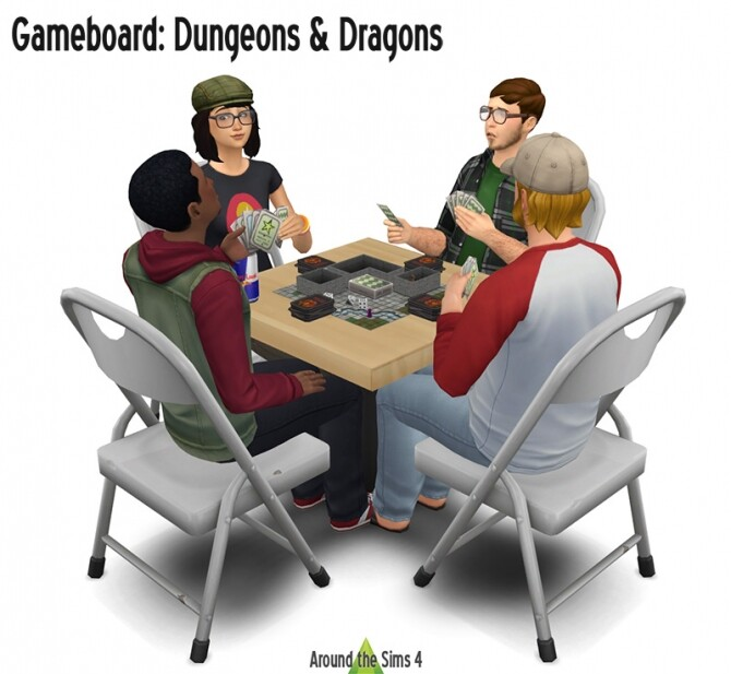 Sims 4 Dungeons & Dragons Gameboard at Around the Sims 4
