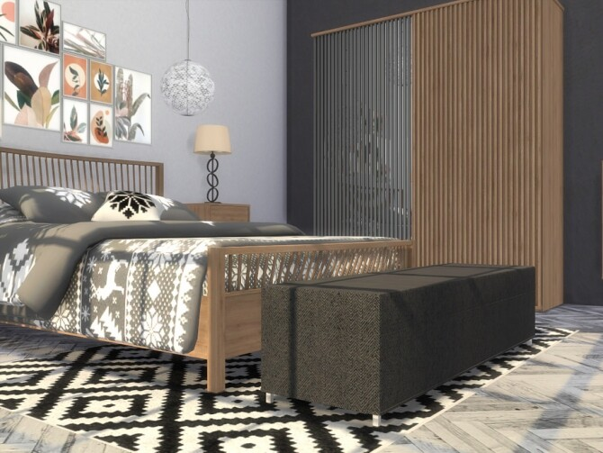 Sims 4 Lakefield Bedroom by Onyxium at TSR