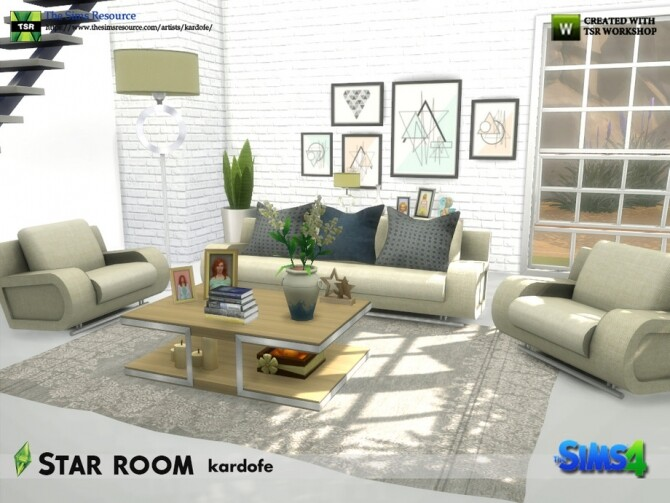 Sims 4 Star room by kardofe at TSR