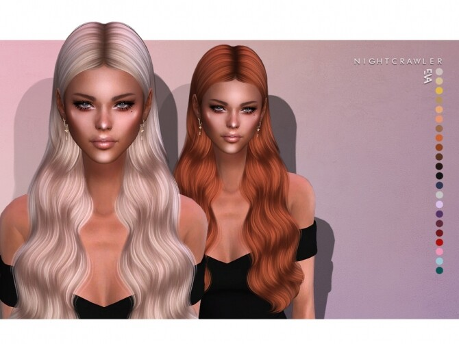 Sims 4 Eva hairstyle by Nightcrawler Sims at TSR