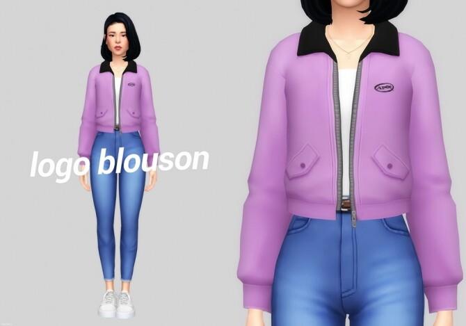 Sims 4 Logo blouson at Casteru