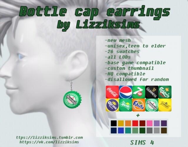 bottle cap earrings
