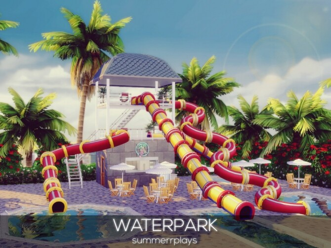 Sims 4 Waterpark by Summerr Plays at TSR