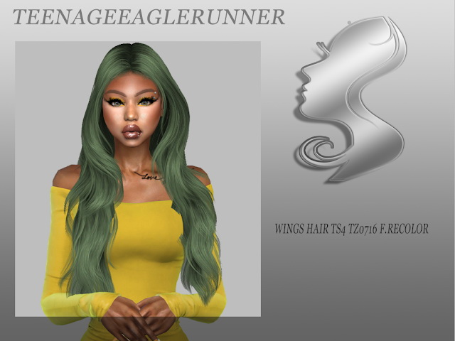 Sims 4 WINGS HAIR TS4 TZ0716 F. Recolor at Teenageeaglerunner