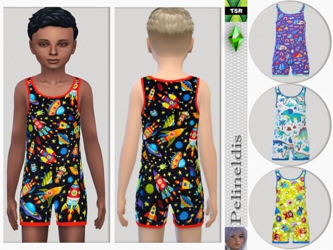 Boys Nightwear Jumpsuit by Pelineldis