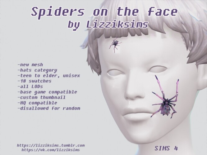 Spiders on the face