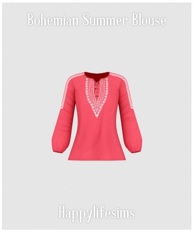 Bohemian Summer Blouse at Happy Life Sims image 2058 670x803 Sims 4 Updates